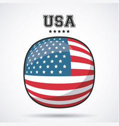usa flag patriotism symbol icon design vector image