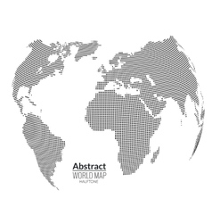 3d abstract world map planet dots global vector image