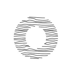 Abstract line initial o vector