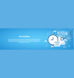 accounting audit business horizontal web banner vector image