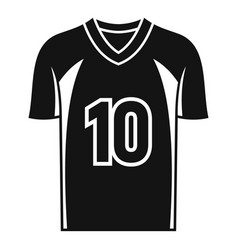 american football jersey icon simple style vector image