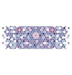 Arab geometric flower star pattern border vector