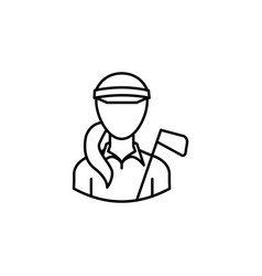 avatar golfer outline icon signs and symbols can vector image