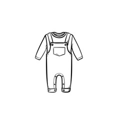 baby shirt and pants hand drawn outline doodle vector image