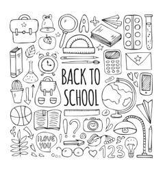 Back to school big doodles set vector