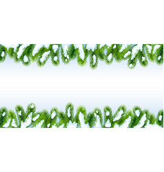 background with christmas tree branches vector image