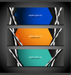 Banner background modern design vector