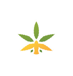Bird cannabis logo icon vector