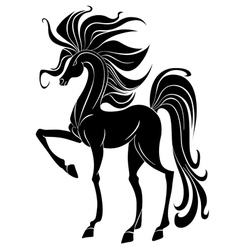black stallion vector image