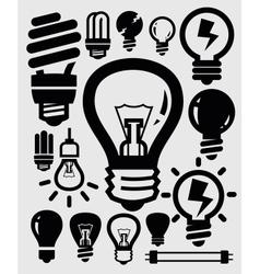 bulbs icons vector image