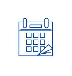 calendar time line icon concept calendar time vector image