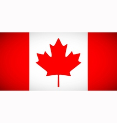 canadian flag with correct proportions and color vector image