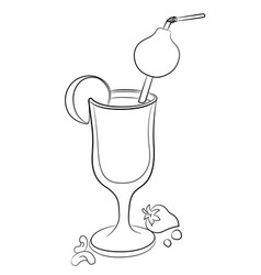 Cartoon image of cocktail vector