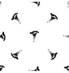 Chanterelle pattern seamless black vector