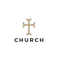 Church logo icon vector
