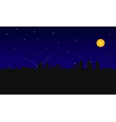 City building night vector