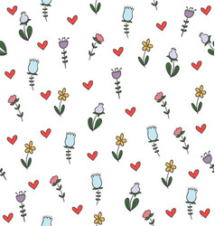 color flower seamless pattern vector image