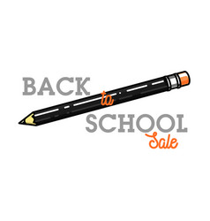 Color vintage back to school sale emblem vector