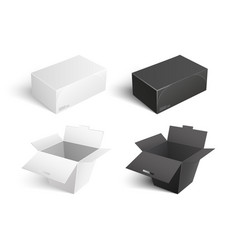 containers icons boxes packages templates vector image