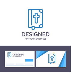 Creative business card and logo template book vector