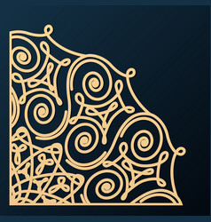 decorative corner ornament design element vector image