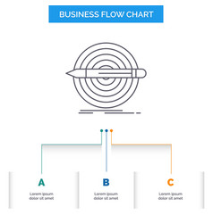 Design goal pencil set target business flow chart vector