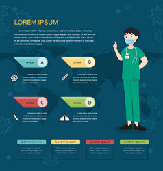 doctor and epidemics virus information vector image