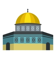 Dome of the Rock on Temple Mount icon flat style vector