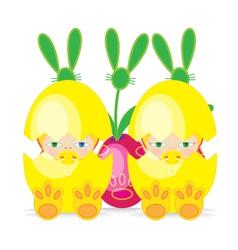 Easter Baby 2EGG vector