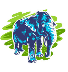 Elephant art vector