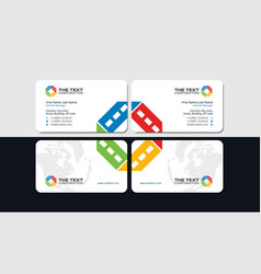 entertainment business card vector image