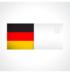 Envelope with German flag card vector image
