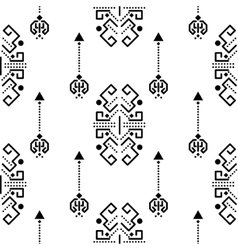 Ethnic tribal ornament seamless pattern vector
