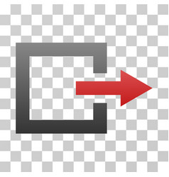 Exit gradient icon vector