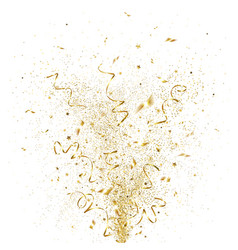 Explosion of golden confetti vector