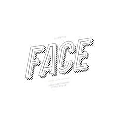 face font 3d bold style vector image
