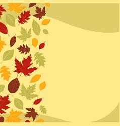 Falling autumn leaves template design vector
