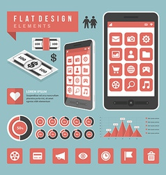 Flat devices and icons infographic design el vector