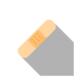 Flat icon of plaster vector