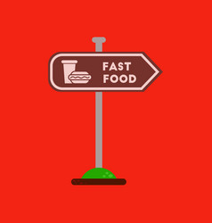 Flat icon on background fast food sign vector