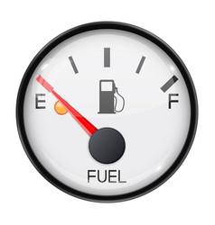 Fuel gauge empty tank round car dashboard 3d vector