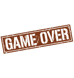 Game over square grunge stamp vector