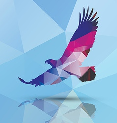 geometric polygonal eagle pattern design vector image
