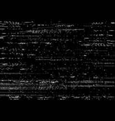 Glitch distortion screen vhs video effect vector