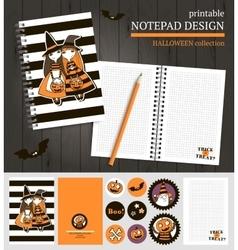 Halloween printable set vector
