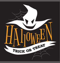 Halloween trick or treat logo sign vector