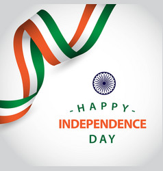Happy india independent day template design vector