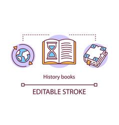 History books concept icon world historical vector