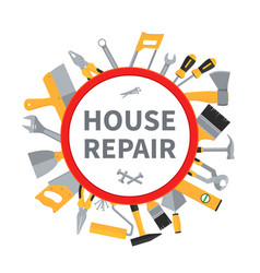 House repair and remodeling background with vector