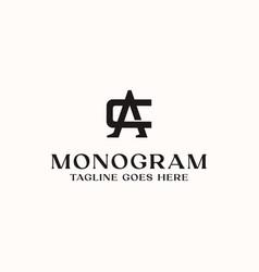 letter ca ac c a monogram logo template vector image